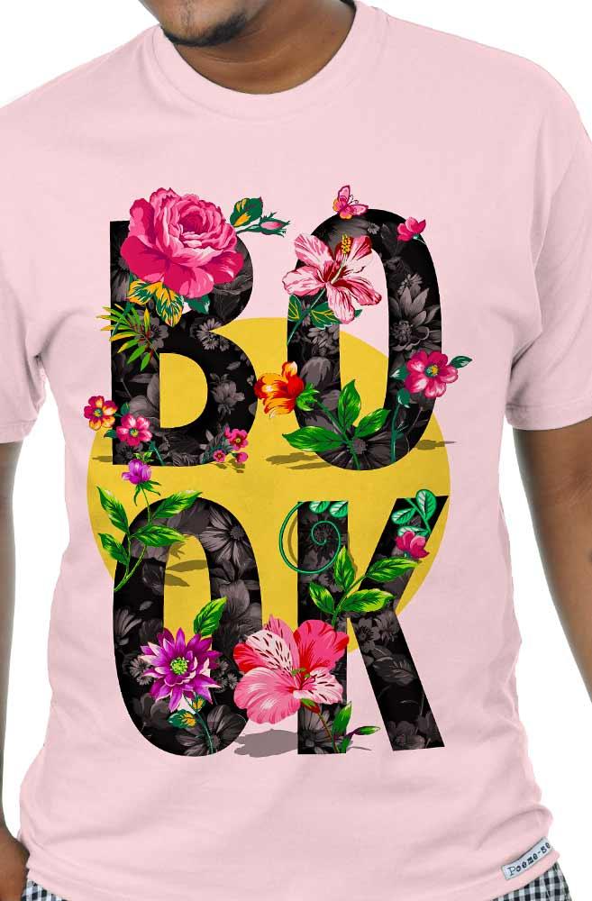 Camiseta Rosa Book