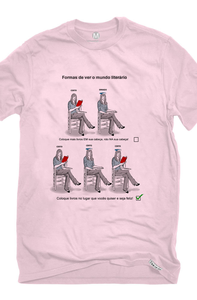 Camiseta Rosa Certo e Errado