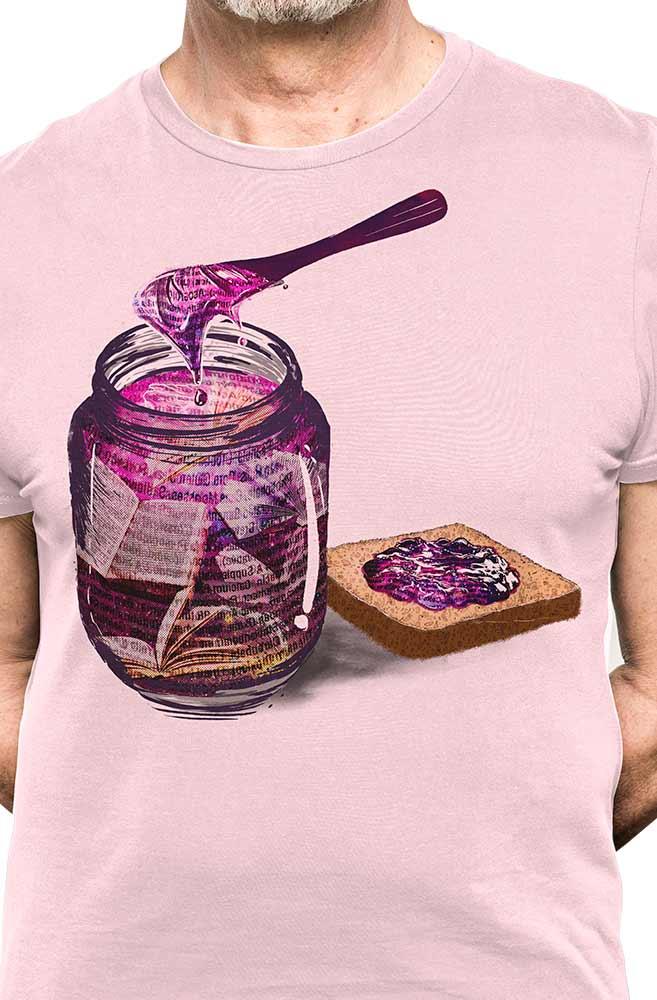 Camiseta Rosa Geleia Literária