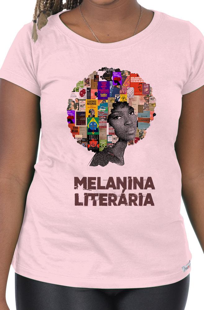 Camiseta Rosa Melanina Literária