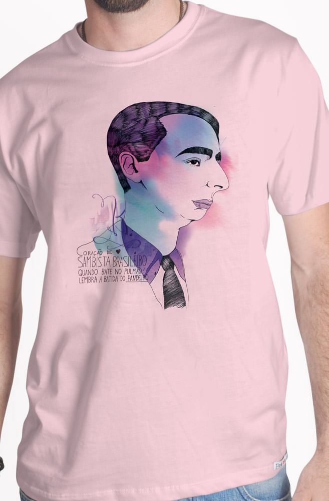 Camiseta Rosa Noel Rosa