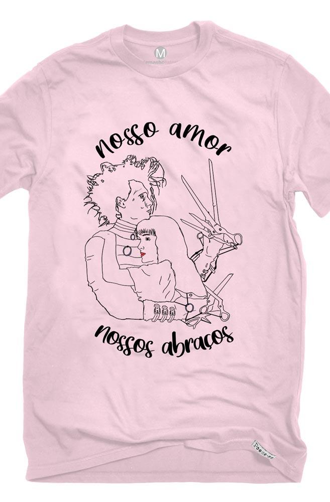 Camiseta Rosa Nossos abraços