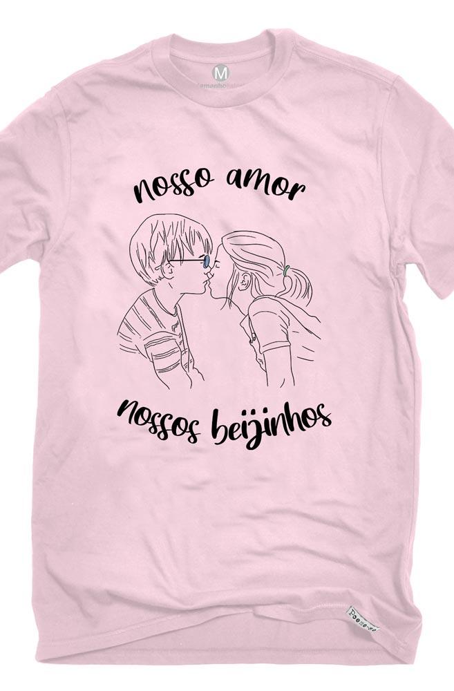 Camiseta Rosa Nossos Beijinhos