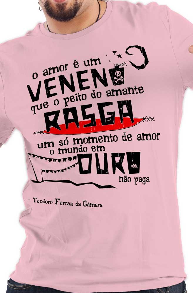 Camiseta Rosa O Amor em Cordel: Teodoro Ferraz