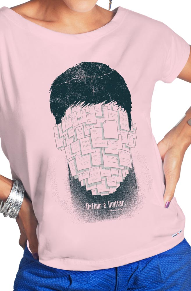 Camiseta Rosa Oscar Wilde