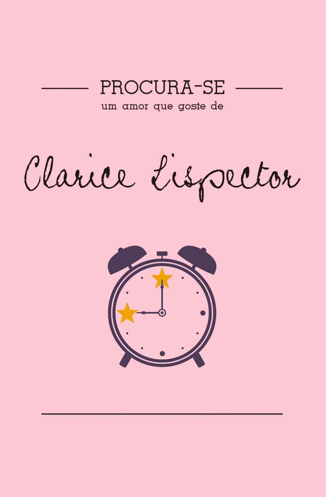 Camiseta Rosa Procura-se Clarice Lispector