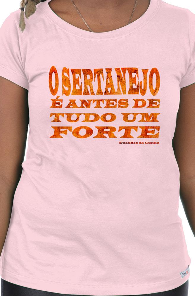 Camiseta Rosa Sertanejo é um forte