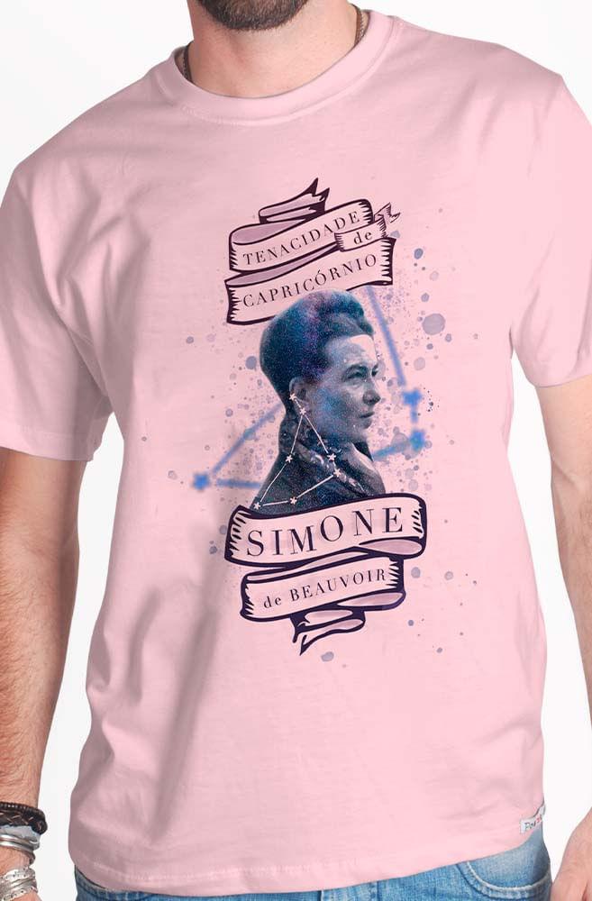 Camiseta Rosa Simone de Beauvoir: A Tenacidade de Capricórnio