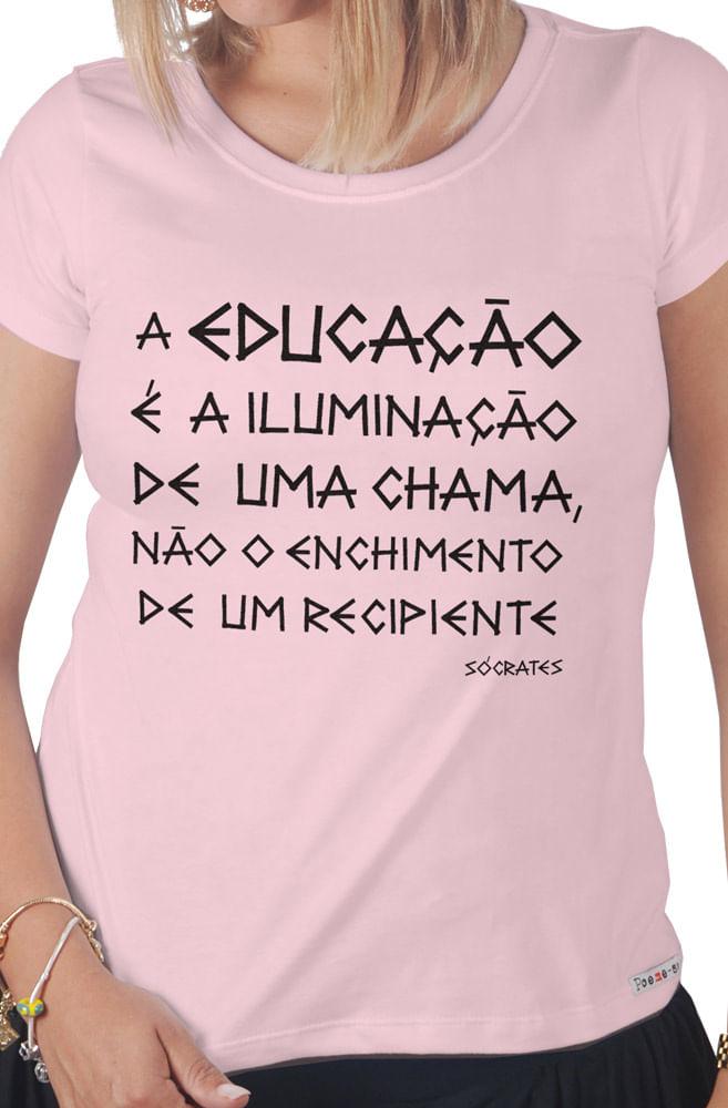 Camiseta Rosa Sócrates