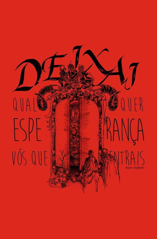 Camiseta Vermelha A Divina Comédia