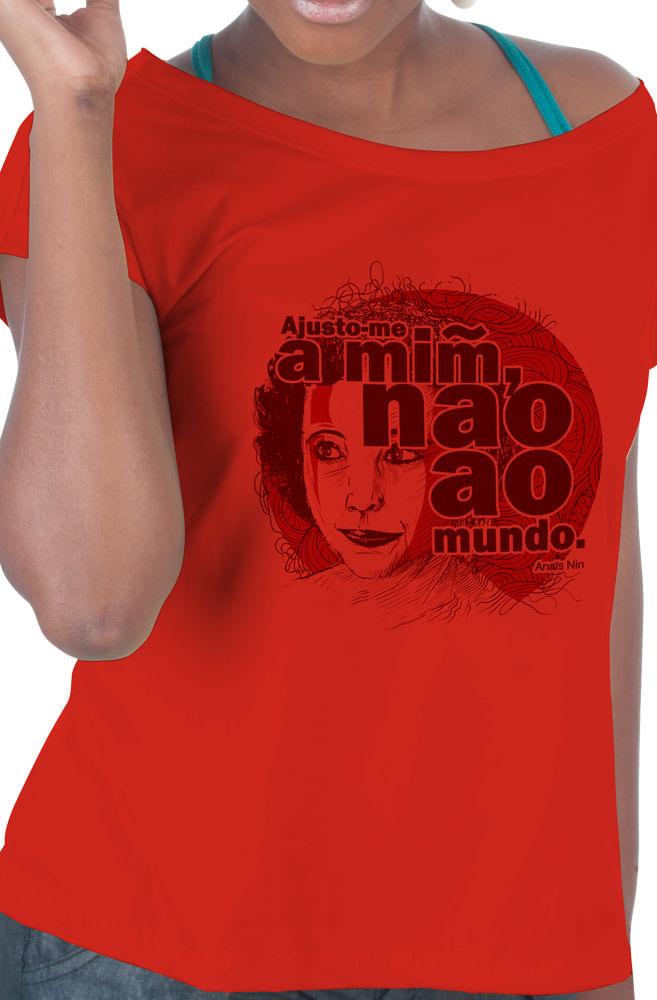 Camiseta Vermelha Anaïs Nin