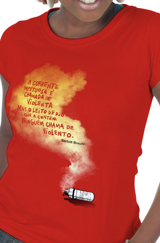 Camiseta Vermelha Bertolt Brecht