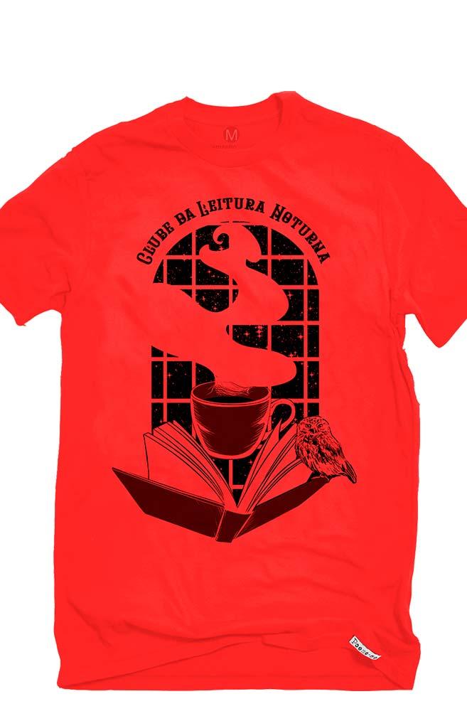 Camiseta Vermelha Clube da leitura noturna
