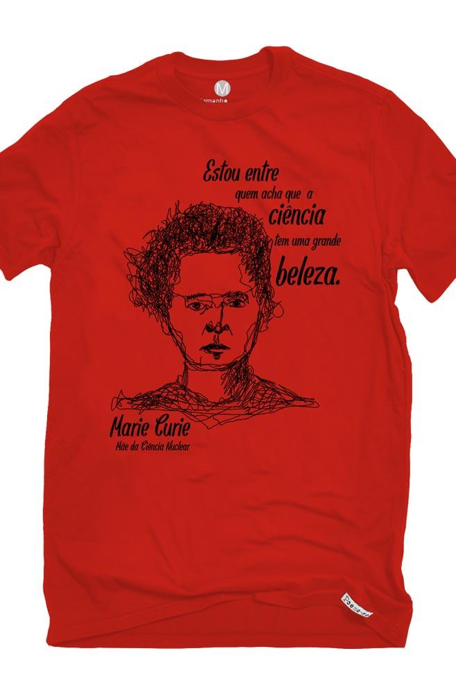 Camiseta Vermelha Curie, Mãe da Ciência Nuclear