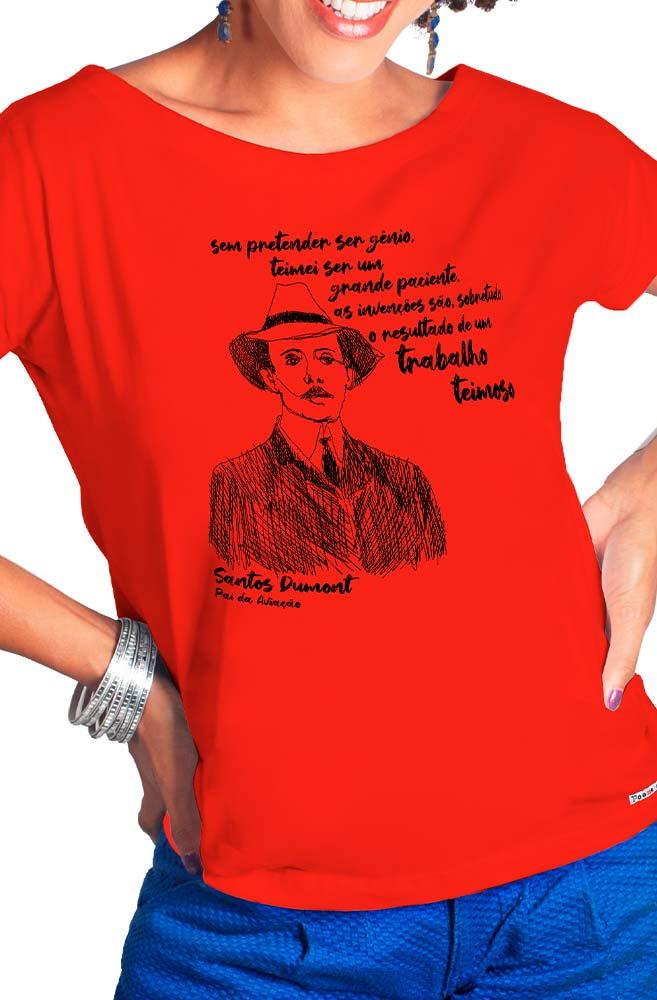 Camiseta Vermelha Dumont, pai da aviação
