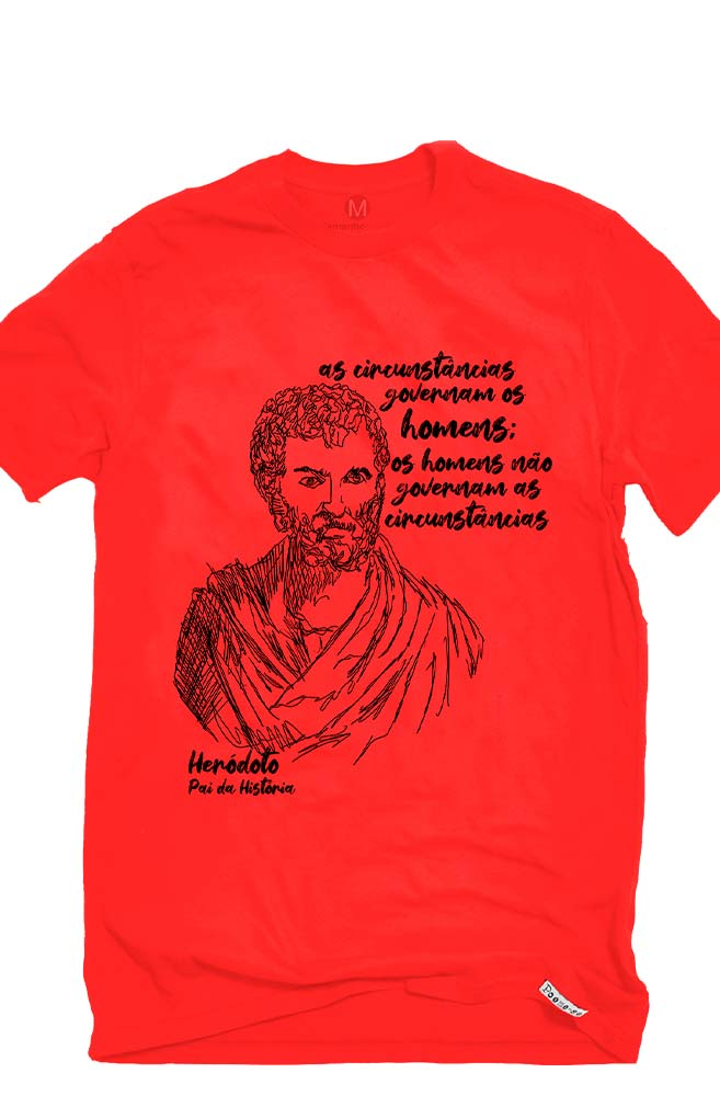 Camiseta Vermelha Heródoto, pai da história