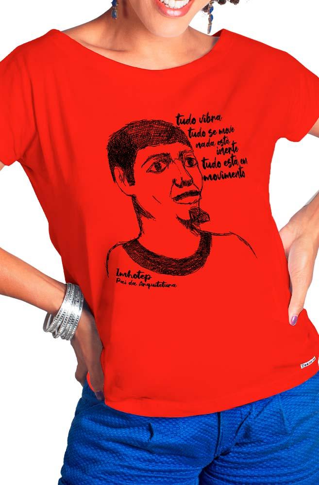 Camiseta Vermelha Imhotep, pai da arquitetura