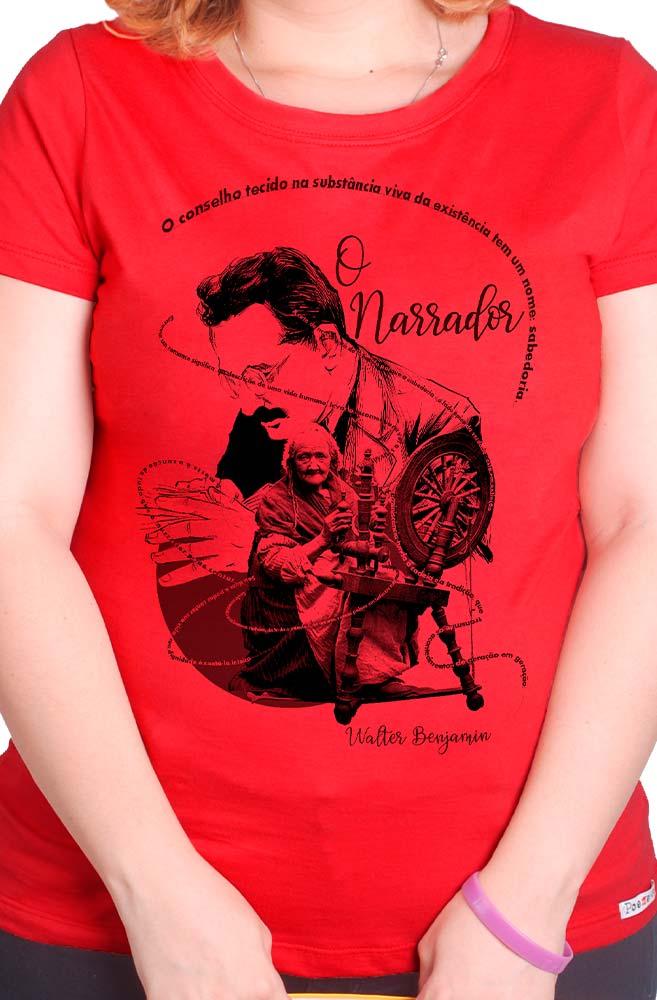 Camiseta Vermelha O Narrador