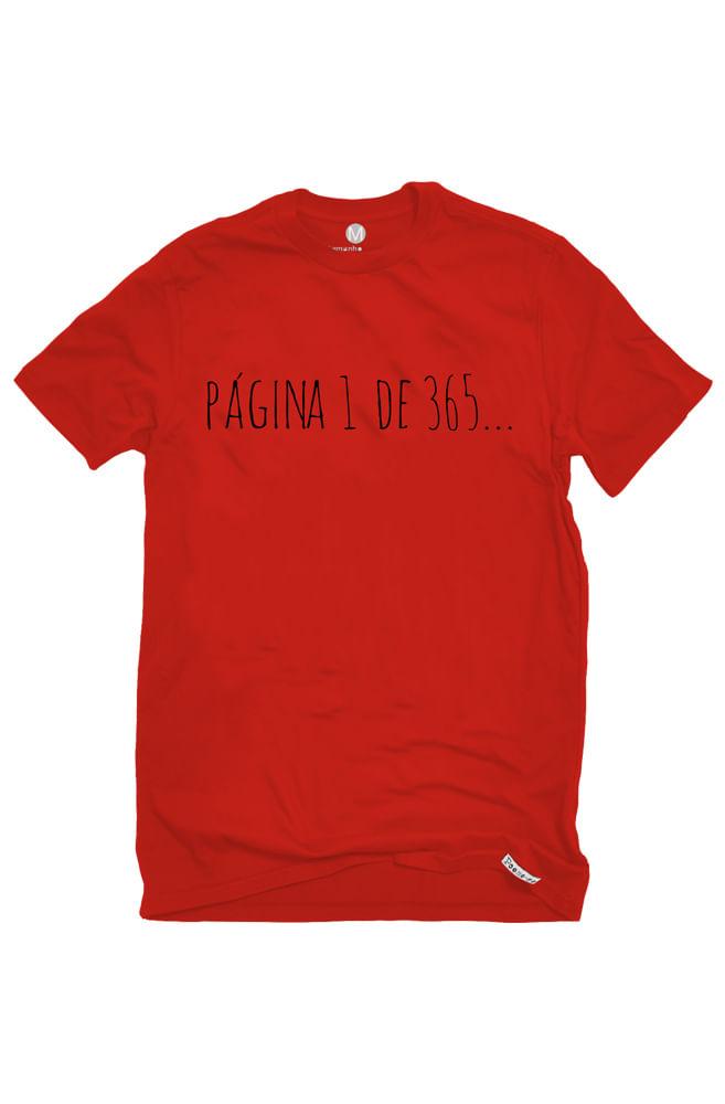 Camiseta Vermelha Página 1 do ano da Amor