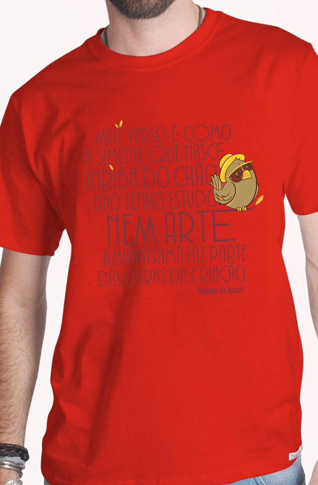 Camiseta Vermelha Patativa do Assaré