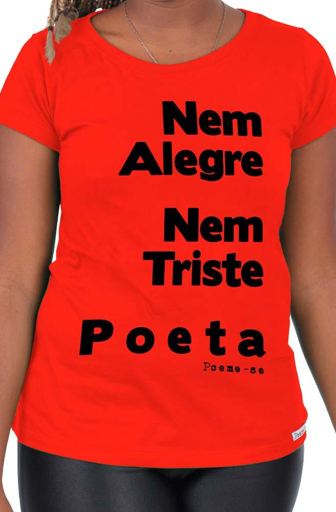 Camiseta Vermelha Poeta