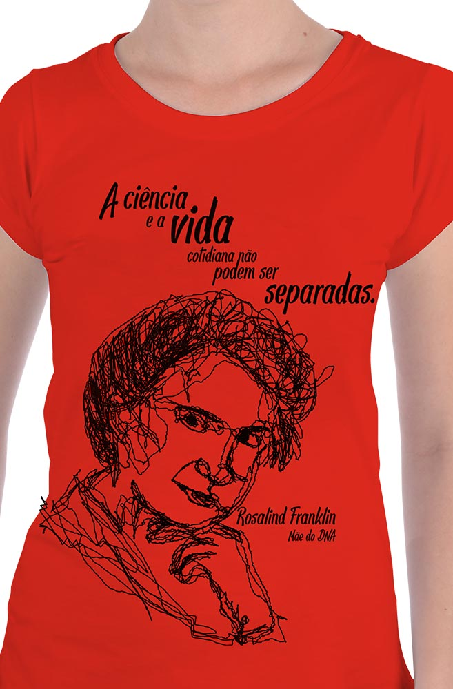 Camiseta Vermelha Rosalind, Mãe do DNA