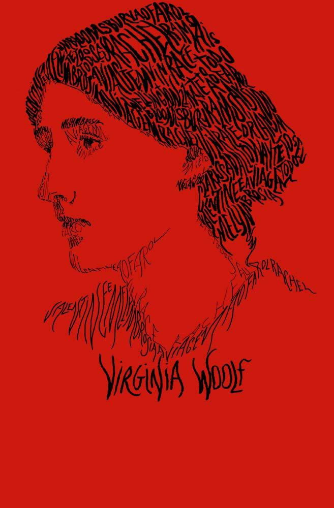 Camiseta Vermelha Rostos Letrados: Virginia Woolf