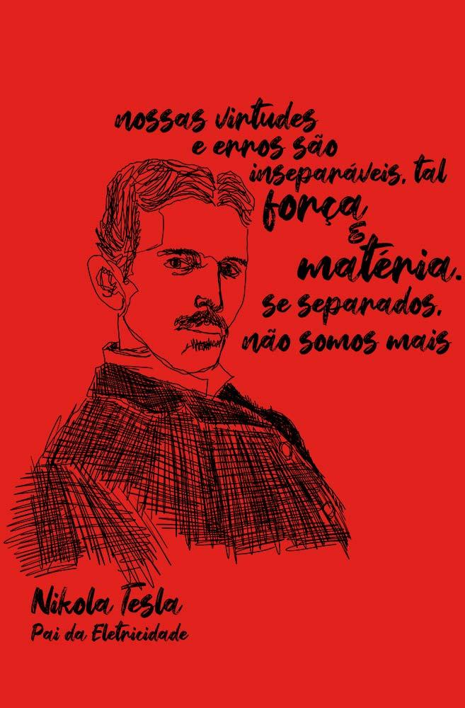 Camiseta Vermelha Tesla, pai da eletricidade