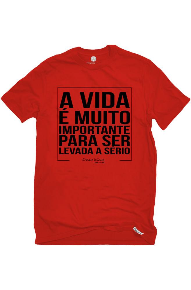 Camiseta Vermelha Vida Importante