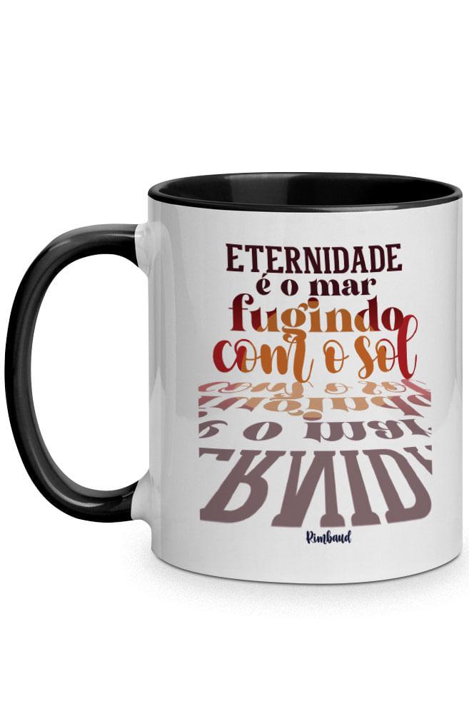 Caneca A eternidade de Rimbaud com alça preta