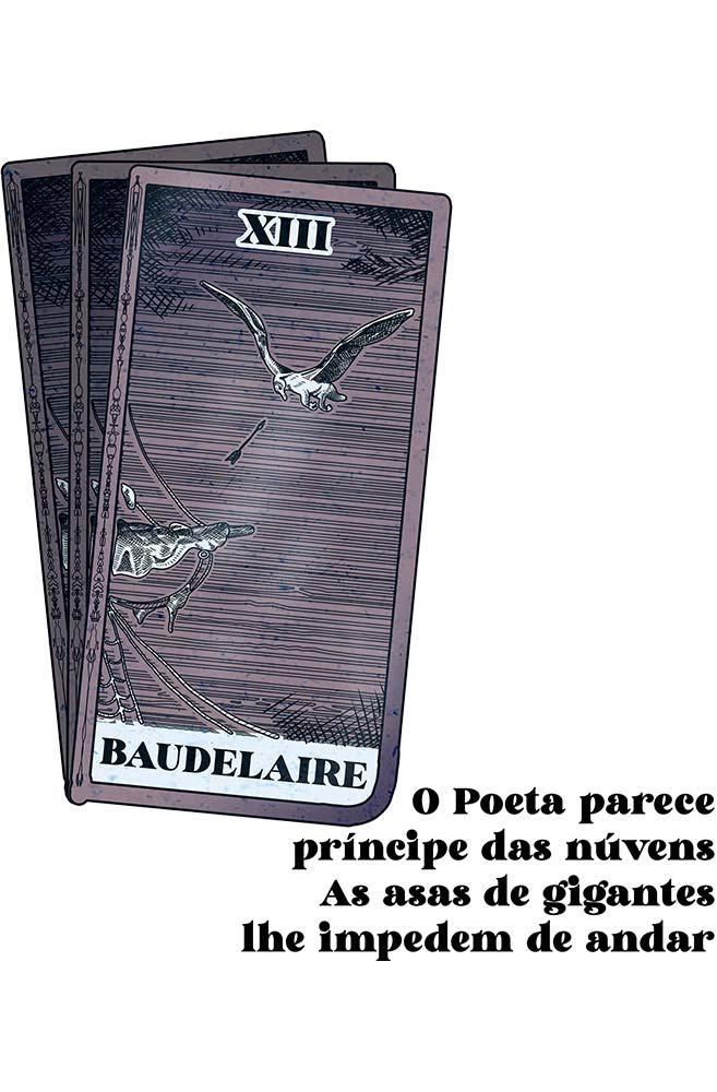 Caneca As asas de Baudelaire