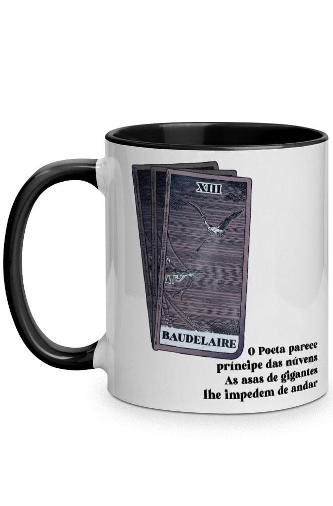 Caneca As asas de Baudelaire com alça preta