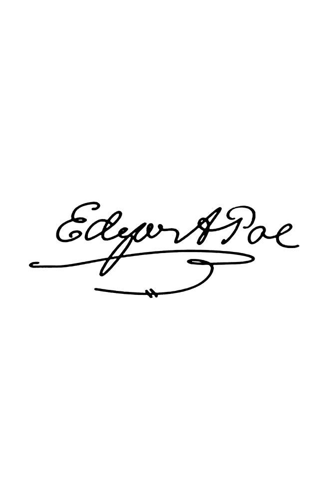 Caneca Assinatura Edgar allan poe