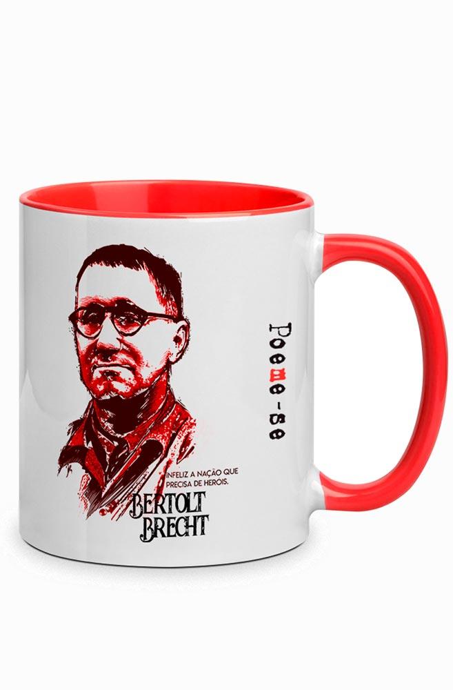 Caneca Brecht Herói com alça vermelha
