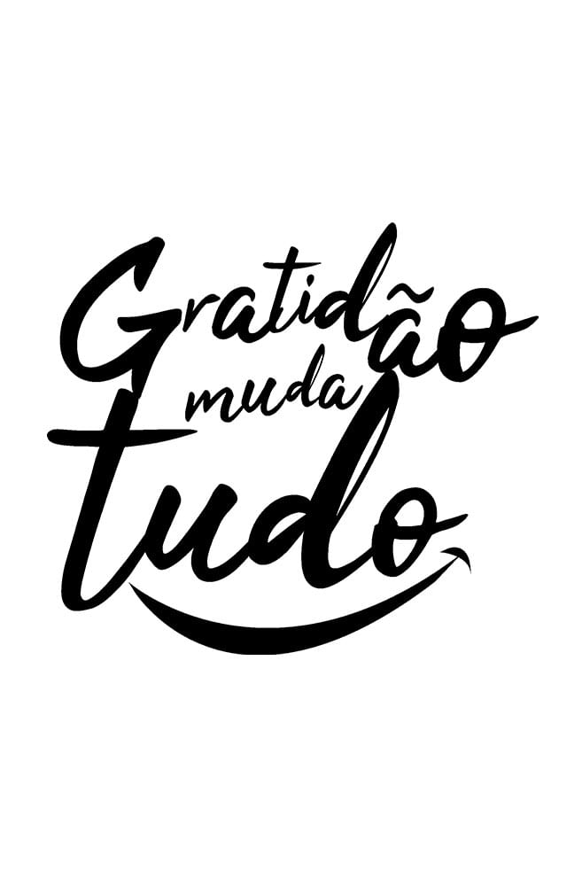 Caneca Gratidão Muda Tudo