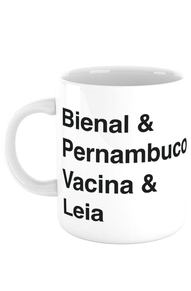 Caneca Helvética Bienal de Pernambuco