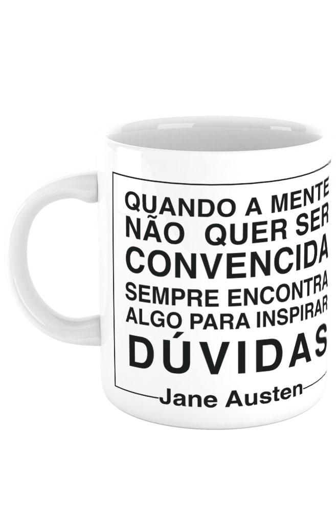 Caneca Negacionismo por Jane Austen