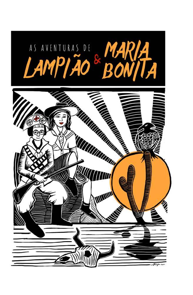 Caneca O Amor em Cordel: Lampião e Maria Bonita