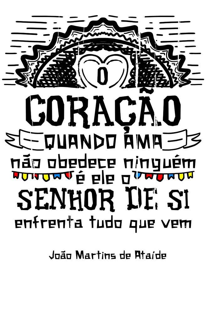 Caneca O Amor em Cordel: Martins de Ataíde