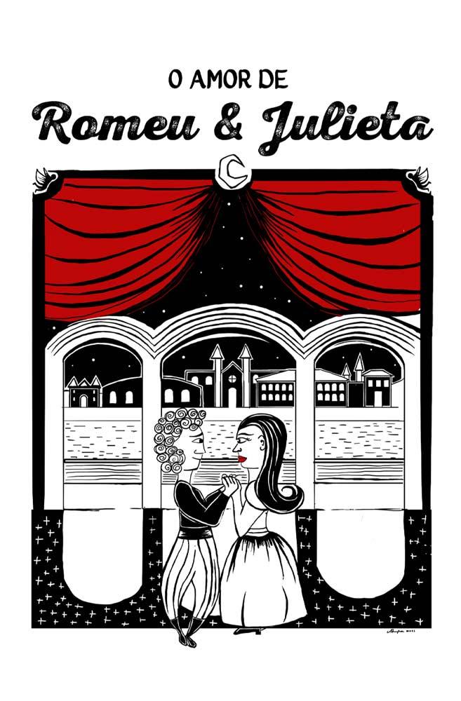Caneca O Amor em Cordel: Romeu e Julieta
