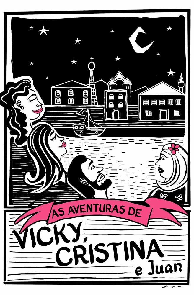 Caneca O Amor em Cordel: Vicky, Cristina e Juan