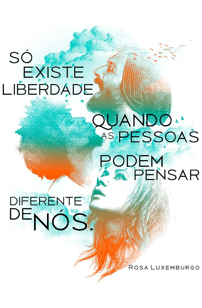 Caneca Rosa Luxemburgo