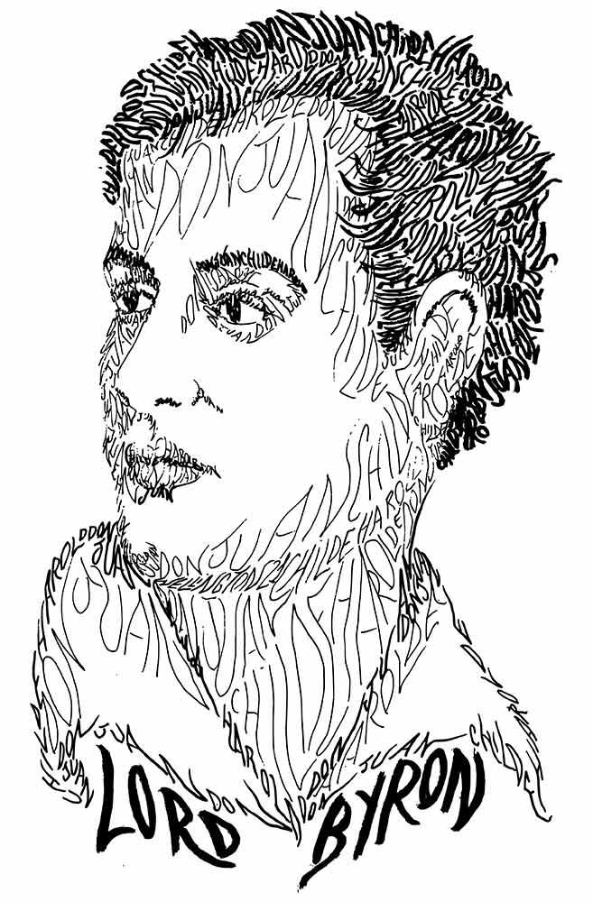 Caneca Rostos Letrados: Lord Byron