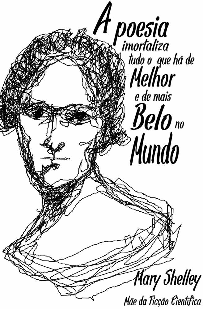 Caneca Rostos Letrados: Mary Shelley