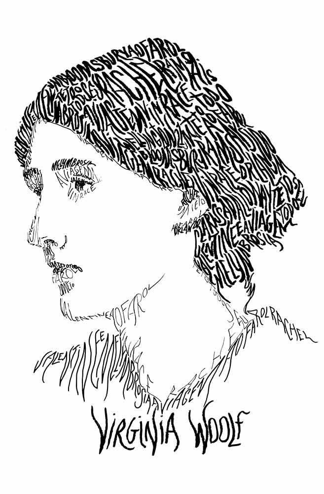 Caneca Rostos Letrados: Virginia Woolf
