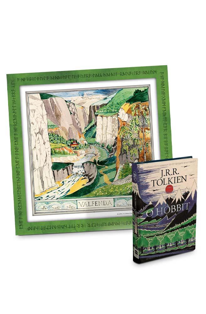 Livro O Hobbit + pôster