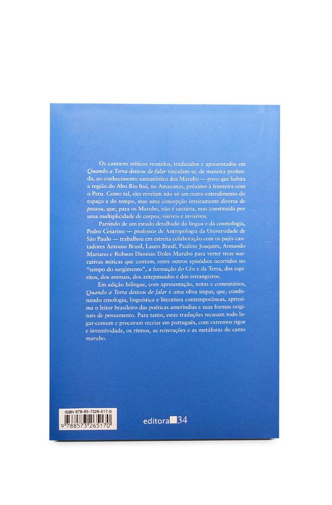 Livro Quando a Terra deixou de falar