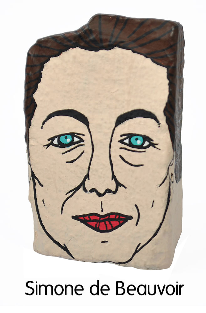 Pedra Poética Simone de Beauvoir