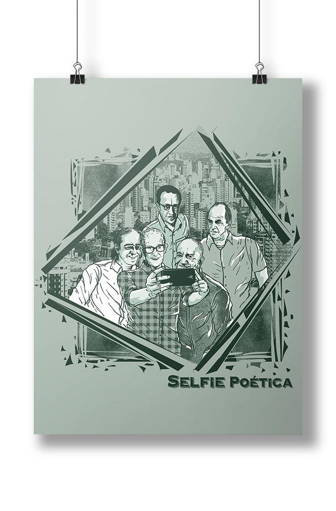 Pôster Selfie Poética