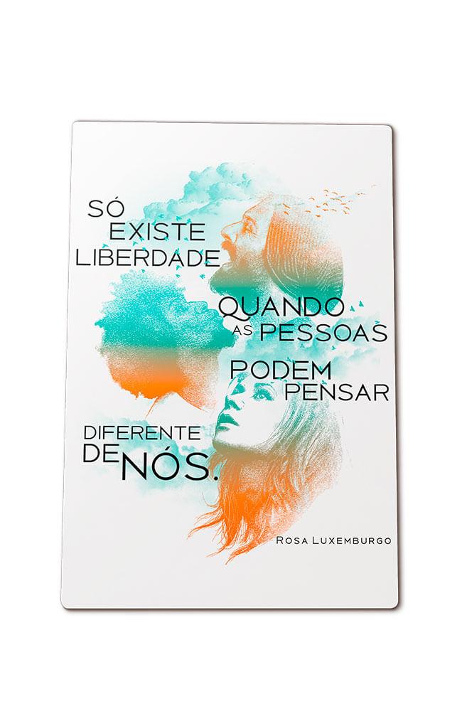 Quadro em MDF Rosa Luxemburgo